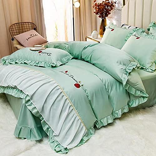 venta de fundas nordicas,Set de sábanas de sábanas Set 4 PCS 1 Duvet Funda 1 Hoja ajustada 2 Casas de almohadas, más adecuadas para la decoración del dormitorio, las habitaciones.-Di_1,8 m de cama (4