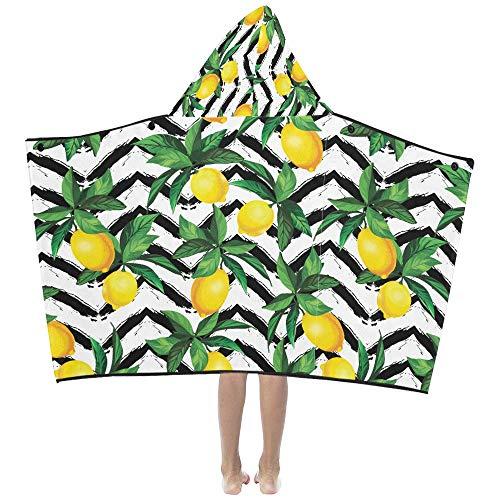 Little Kids Blanket Lemon Vector Pattern Zig Zag Texture