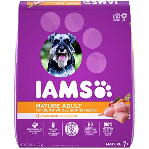 IAMS PROACTIVE HEALTH Mature Adult Dry Dog Food for Senior Dogs with Real Chicken, 29.1 lb. Bag