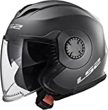 LS2 Helmets Unisex-Adult Solid Helmet with Shield (Matte Titanium, Medium) - 570-1033