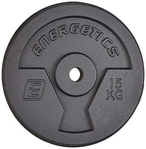 ENERGETICS Hantelscheibe Guss 20 kg, Schwarz