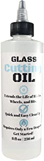 Premium Glass Cutting Oil (8 oz) Specially Formulated for Use with Any Glass Cutter Tool..