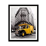 Art Emotion Solid Wood Picture Frame with 2MM Reinforced Glass, Black 20x24 Frame for 16X20 Photo (20x24 Without Mat), Hangers for Horizontal or Vertical Display