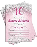 Sweet 16 Sixteen Pink Birthday Party Double...