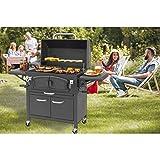 EL Fuego® Grand Ontario Barbecue au charbon de bois Barbecue à roulettes AY 572
