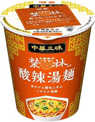 明星 中華三昧 タテ型 赤坂榮林 酸辣湯麺 66g ×12個