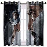 SSKJTC Cortinas para ventana de bahía, superhéroe y Iron Man Civil War, cortinas de fondo de 106 cm de ancho x 107 cm de largo