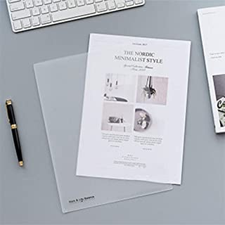 10Pcs Report Covers Folder L-Shaped Clear Transparent for File Plastic A4 Document Project Pockets School Office