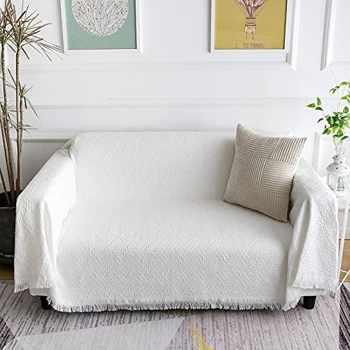 LHGOGO Tagesdecke Wohndecke Sofadecke Große Größe Sofa Überwurf Es ist Die Erste Wahl für Familie Reisen & Büro 180 x 230cm Weiß
