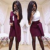 N\C Dress Suit Women Sheath O-Neck Mini Dress Sexy Formal Blazer Dress Femme Office Wear 2 Piece Female Sets Vestido Formal Mujer