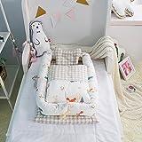 Bébé lit Avec Quilt (0-24 mois) Bébé détachable lit isolé Nouveau-né bébé dormir artefact lit pliable bionique...