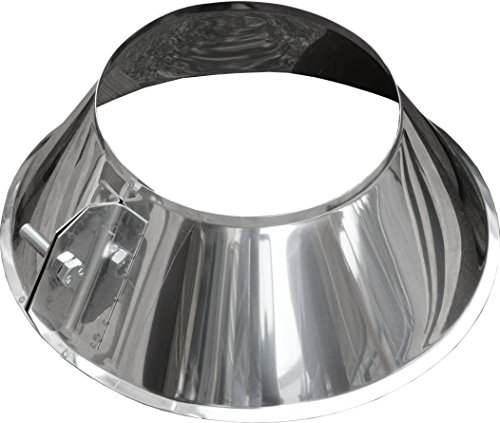 WARTO 180 mm – Tube de Pluie col cheminée Acier Inoxydable Toit – Diamètre 180 Mm
