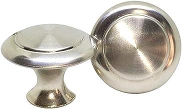 DFHM 20x Keukenkast Knoppen Zilver Paddestoel Deurknoppen voor Commode RVS Geborsteld Handvatten Trekken voor Kasten Kledi...