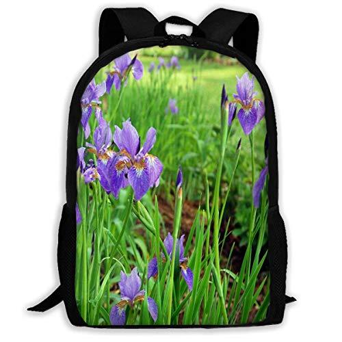 NA Rugzak Iris Plant Rits School Bookbag Dagtas Reizen Rugzak Gym Tas Voor Man Vrouwen