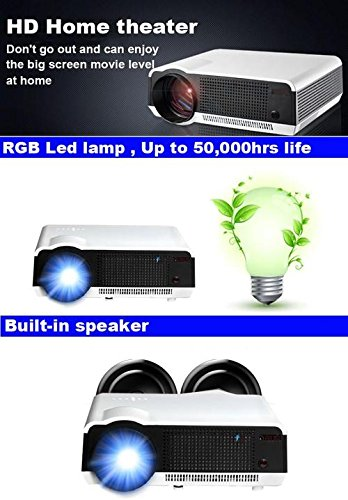 Gowe Full HD 200 W LED lamp 3500Lumen 1280*800 Professionele multimedia Home cinema LED TV projector Digitale 3D Proyector