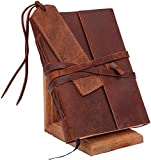 Leather Journal for Men & Women, Leather Blank Book, Poetry Journal, Lined Journal Notebooks & Journals for Women, Mens Journal Leather Bound Writing Notebook