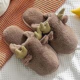 ypyrhh Zapatillas antideslizantes para interiores y exteriores, para el hogar, con bolsa cálida y zapatillas. Pantuflas de algodón de felpa para interiores y exteriores