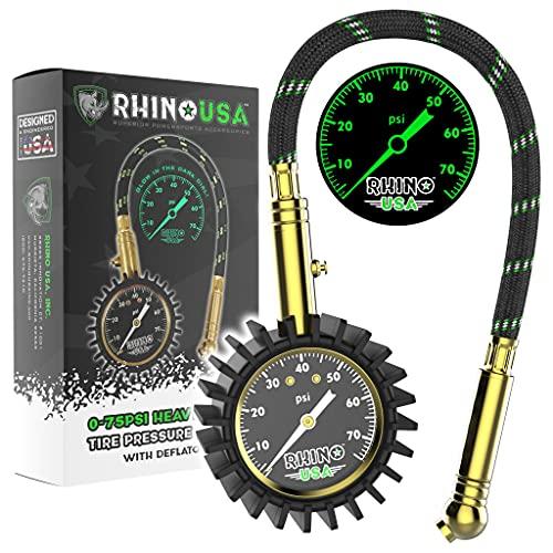 rhino usa heavy duty tire pressure gauge