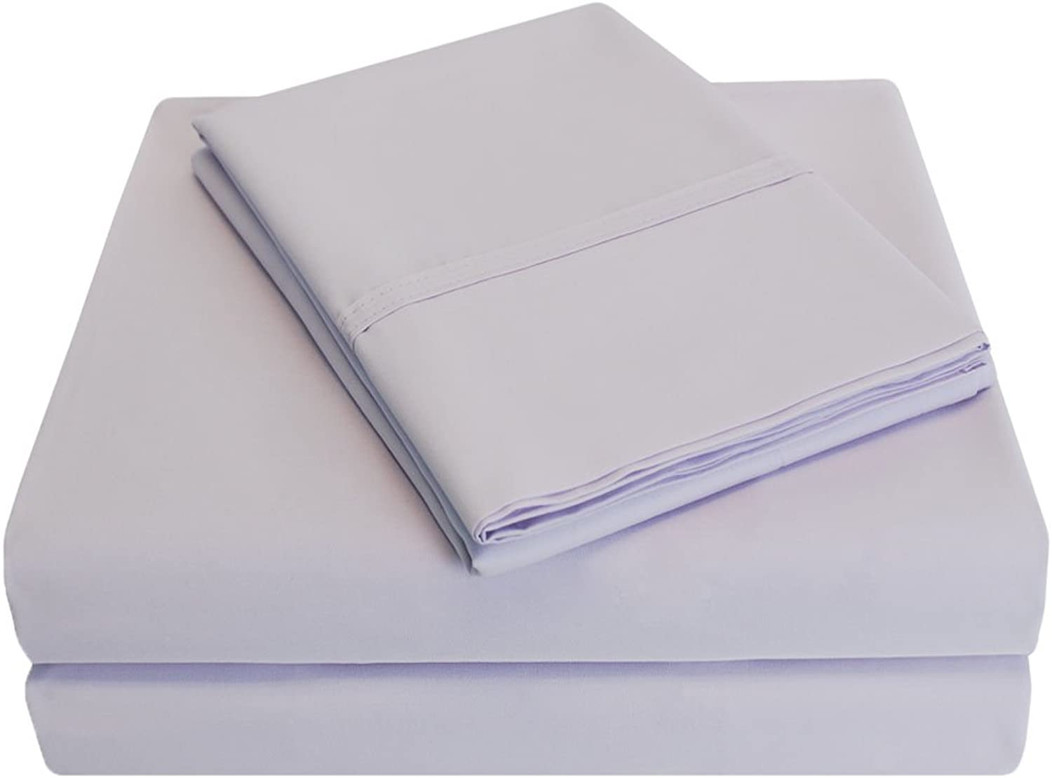Percale 300 Thread Count 100% Cotton, Deep Pocket, 4-Piece Full Bed Sheet Set, Solid, purplec