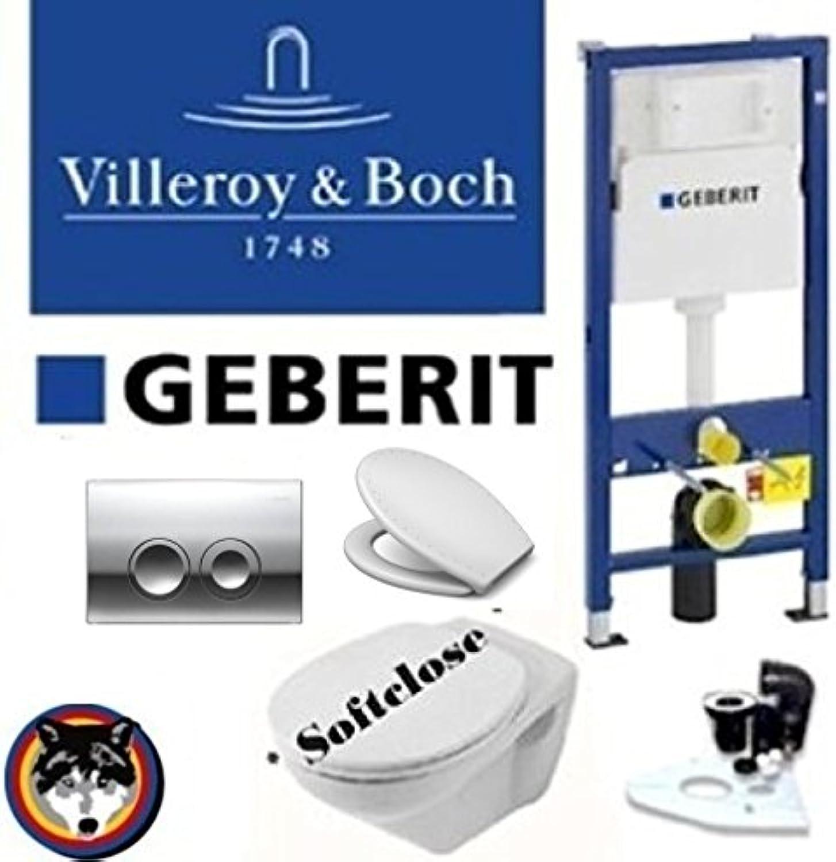 Geberit Duofix Vorwandelement, V&B Omnia Classic Komplettset + Haro WC Sitz Diamond Swarowski, C-plus , Delta 21 Chrom