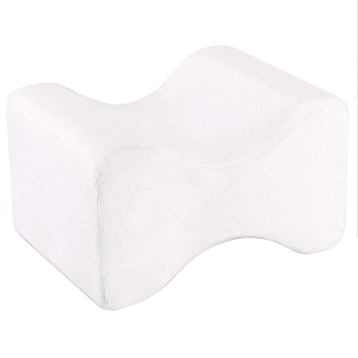 作業名前を作る経営者ソフト枕膝枕クリップ足低反発ウェッジ遅いリバウンドメモリコットンクランプマッサージ枕男性女性、ホワイト