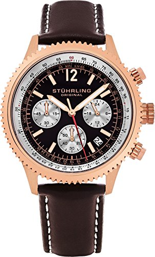 Stuhrling Original Men's 669.04 Analog Monaco Quartz Chronograph Date...