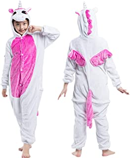 fe93b0b689 Kids Unicorn Onesie Pajamas One-Piece Animal Cosplay Costume for Xmas  Halloween