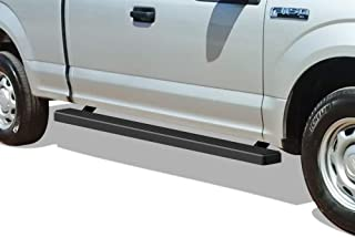 APS iBoard Running Boards 4in Matte Black Custom Fit 2015-2020 Ford F150 Super Cab Pickup..