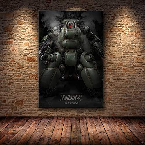 mmzki Charakter ölgemälde Cartoon Spiel Poster wandkunst leinwand Poster und Druck leinwand dekorative Bild für Schlafzimmer Zeichnung A