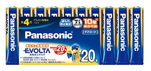 パナソニック エボルタ アルカリ乾電池 単4形 LR03EJ20SW 1パック 20本
