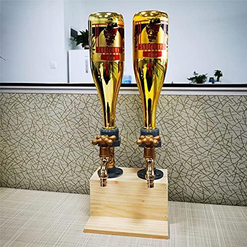 Dispensador de alcohol, para el día del padre, para licor, whisky, madera, forma de grifo para fiestas, cenas, bares, whisky, bourbon, vodka