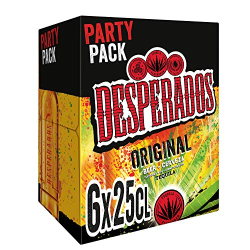 Desperados Cerveza - Pack de 6 Botellas x 250 ml (Total: 1.5 L)