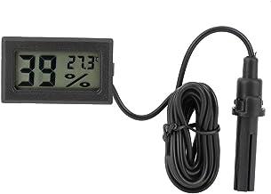 MAGT Termómetro Digital, Termómetro Integrado para el hogar Higrómetro Temperatura de cocción en la Cocina Medidor de Humedad