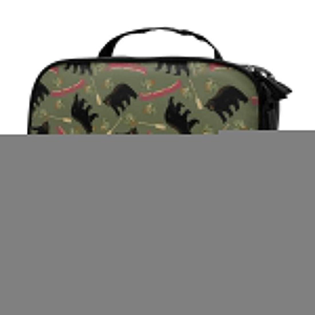 ケージ芽ブラザー収納袋クロクマ赤カヌーグリーン化粧品袋耐摩耗性軽量ポータブル高品質大容量旅行ポーチバスルームポーチ旅行小物整理約8×25×19cm