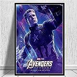 wqmdeshop Avengers Endgame Personnage De Dessin Animé Iron Man Thor Captain America Marvel Affiche De Film Gravure Murale Art Photo pour Le Salon 40X50 Cm -Jp999