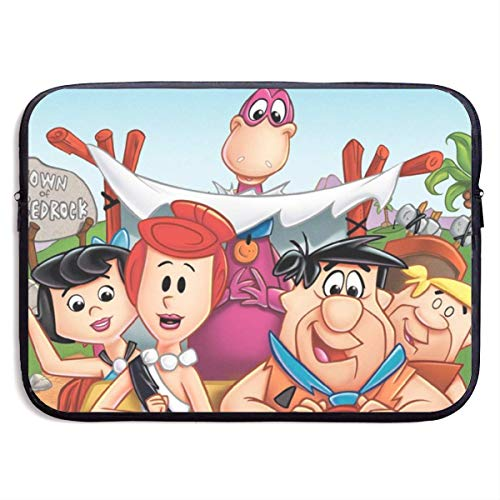 Hdadwy Tv Show Flintstone Laptop Sleeve Case Waterproof Notebook Computer Bag Light and Comfortable Tablet Briefcase Band Zipper Portable Handbag 15 Inch
