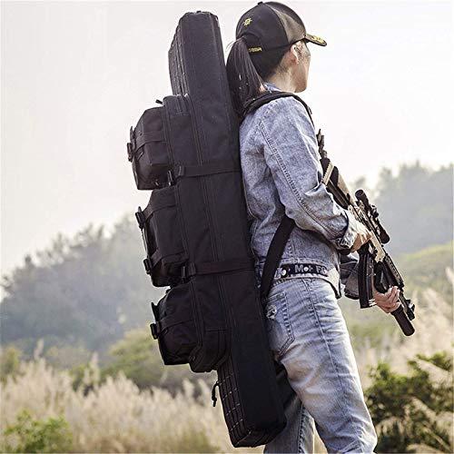 Bolsa de escopeta que acampa, Caja de rifle Bolsa de pistola táctica, estuche de armas de Airsoft con servicio liviano y pesado para almacenar rifles individuales (Tamaño: 42 pulgadas) , para el campo