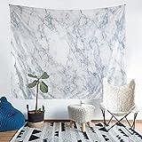 ZZFJFQ 3D Wandteppich Wandbehang weisser Marmor Wandtuch Tapisserie Wanddeko Wandkunst Dekoration für Schlafzimmer Wohnzimmer Wohnheim Zimmer Tagesdecke Größe: 150*130cm.