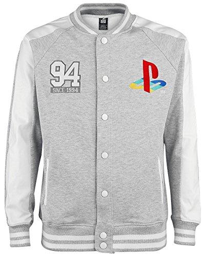 Playstation Playstation Classic Logo College-Jacke grau/hellgrau S