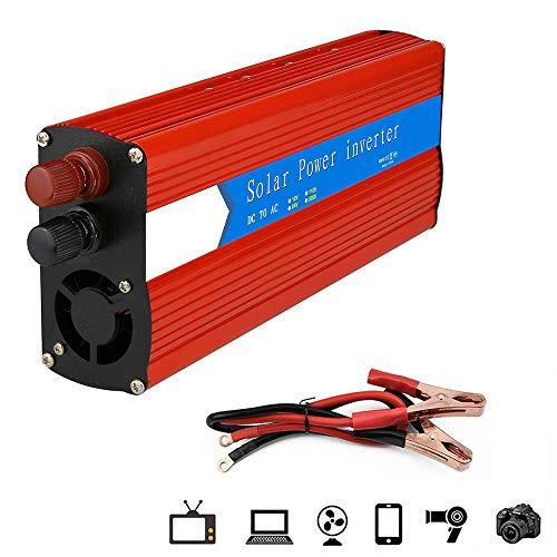 LIMEID Wechselrichter 3000W (Peak 6000W), Reiner Sinus Wechselrichter, DC 12V Auf AC 220V Spannungswandler, Autoladeadapter Mit USB Anschluss,12Vto220V