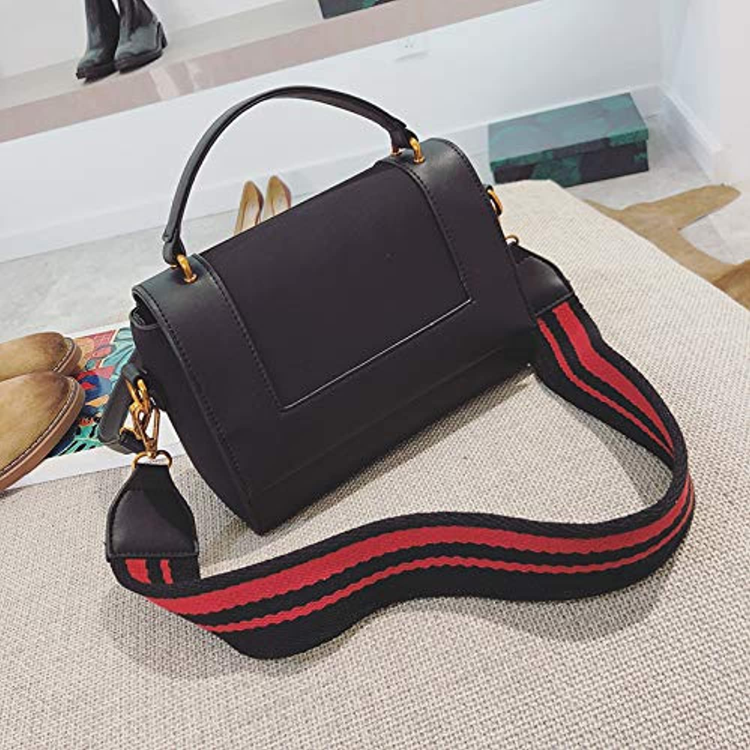 WANGZHAO Small Square Bag, Wide Shoulder Strap, Shoulder Bag Handbag, Women's Bag, Fashion, Fashion, Handbag, Satchel Bag.