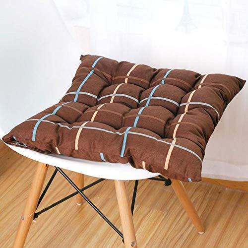 GTD-Cojines para Exterior, Almohadilla de Asiento, Cojines de Asiento Cojín de Tela Escote Acolchado Silla de Comedor Cojín de Oficina de cojín (Paquete) (Size : 50x50cm)