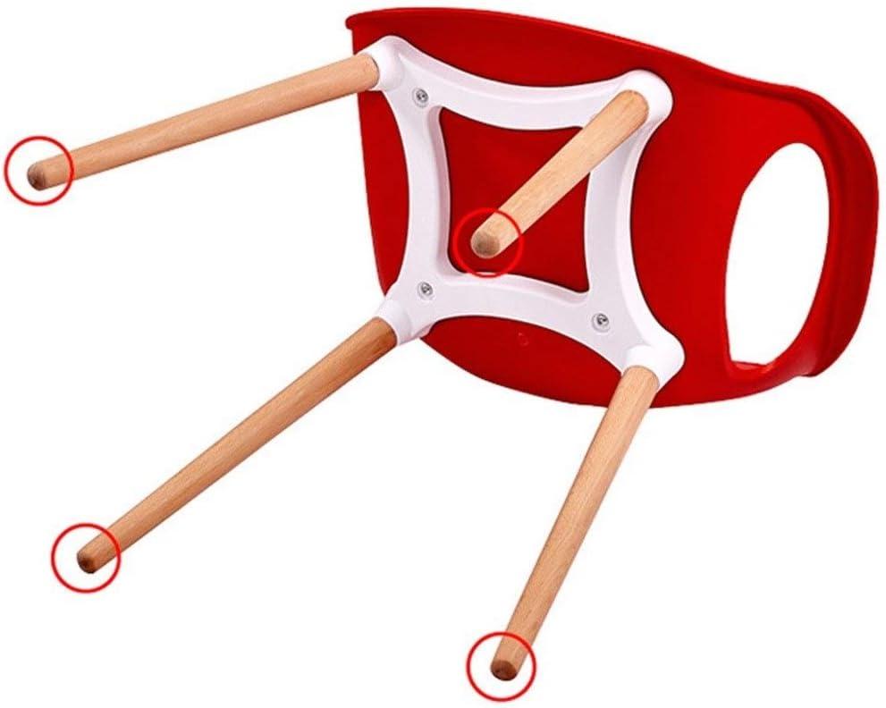 LHHL Chaise de Salle à Manger/Chaise de Bureau Pieds en Bois Massif Naturel avec Dossier en Plastique PP pour Salon de Bureau Cuisine etc. (Color : Black) Red