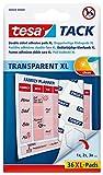 Pack de 36 puntos adhesivos tesa TACK, XL, transparentes, 36 PCS