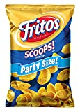 18.0 oz. bag of FRITOS SCOOPS! Corn Chips Made with just three ingredients: corn, salt and oil SCOOPS! design is ideal for pairing with a tasty FRITO LAY dip Share the bag at your next party Gluten free