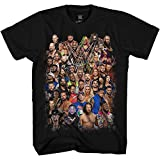 WWE Group Shot John Cena Big Show AJ Styles Daniel Bryan Adult Men's Graphic Tee T-Shirt (Black, XXX-Large)