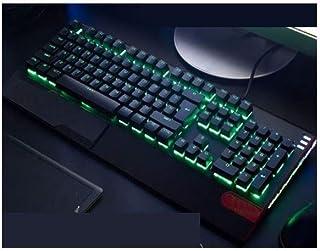 MINHUISHANGMAO Keyboard, Mechanical Esports Wired Computer Keyboard, Retro Cool Ergonomic Design Style (black Orange, 44.6...