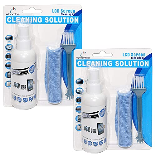 Storite 2 Pack Screen Cleaner Kit - Best for LED & LCD TV, Computer Monitor, Laptop, and Other Screens (100 ml + 100 ml)
