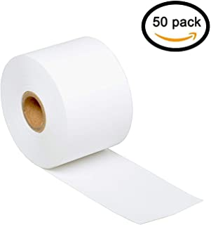 """GREENCYCLE 50 Rolls Replacement 30270 Medium White 2 1/4"""" x 300' 57mm x 91m Continuous Label Tape Receipt Paper Compatible..."""