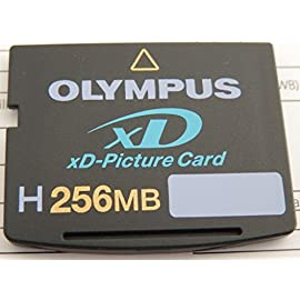 Olympus 202030 H-256 MB xD Picture Card (Retail Package) 7 High Speed (2-3 times faster read-write speeds) Allows use of panorama feature in Olympus digital cameras Also allows use of watercolor, cartoon, oil painting, and 3D effect in Olympus Master Software included with Olympus digital cameras